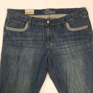 Old Navy The Diva Trouser Low Rise Stretch Jeans